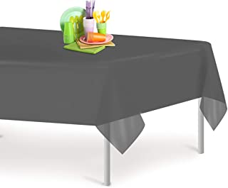 gray tablecloth plastic