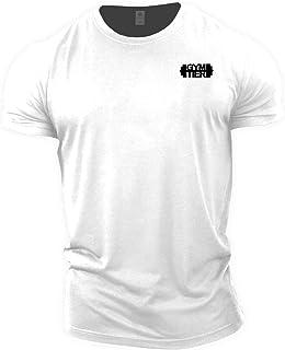 GYMTIER Camiseta Culturismo Hombre - Plain Badge - Top Entrenamiento Gimnasio