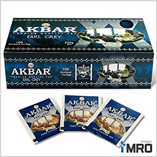 Akbar Earl Grey Tea 100T x 3 boxes, Sri Lanka