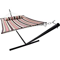 Sorbus Hammock with Spreader Bars and Detachable Pillow (Mocha)