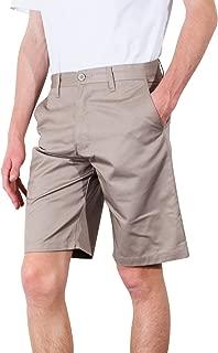 Burnside Men's Daily Flat-Front Knee-Length Chino Short
