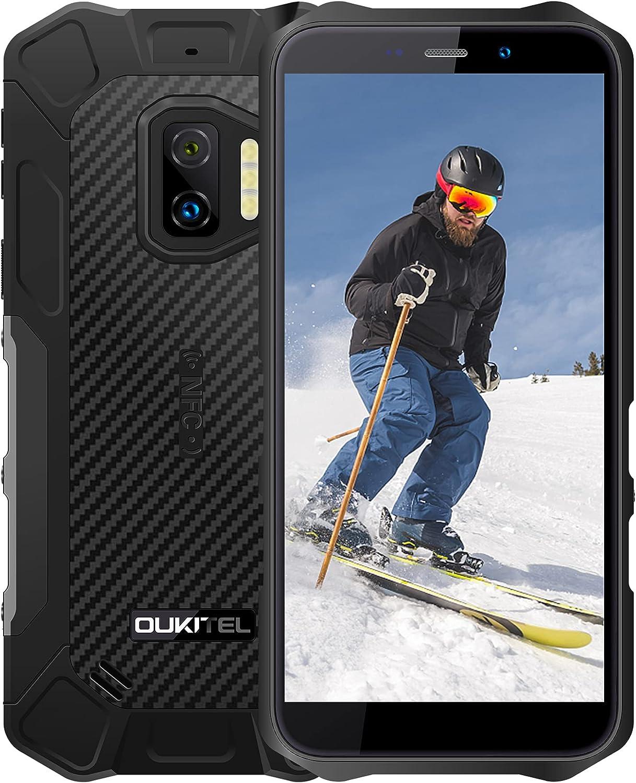 Android 11 Telefono Movil Resistente OUKITEL WP12 Pro, 4GB 64GB Dual SIM Rugged Smartphone Baratos, 5.5'' HD 13MP 8MP Cámara, Impermeable IP68 Robusto, Batería 4000 mAh con NFC Móviles Libres Negro