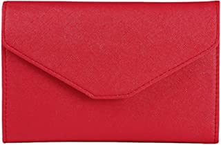 AUMA Multi-purpose Travel Passport Wallet, Tri-fold Card Cover Case Holder, Red