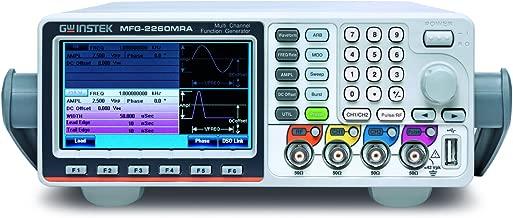 GW Instek MFG-2260MRA MFG-2000 Multi-Channel Arbitrary Function Generator with Pulse Generator, 60 MHz, Dual Channel, Modulation, 320 MHz, RF Signal Generator, Power Amplifier