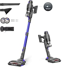 MOOSOO Cordless Vacuum Cleaner, Featuring Smart Sensor Tech, 220W Powerful Stick Vacuum with Multi-Cone Cyclone. Over 40 M...