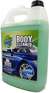 Green Wash 3 Body Cleaner Lavado En Seco Ecológico Lava Y Encera Tu Auto Sin Usar Agua Galón 3.78 litros Listo para Usar
