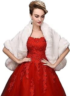 Women's Faux Fur Wrap Cape Stole Shawl Shrug for Wedding/Party/Show