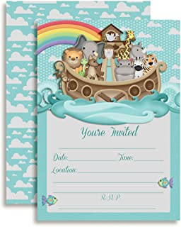 Noah's Ark Birthday Party or Baby Shower Invitations, 20 5