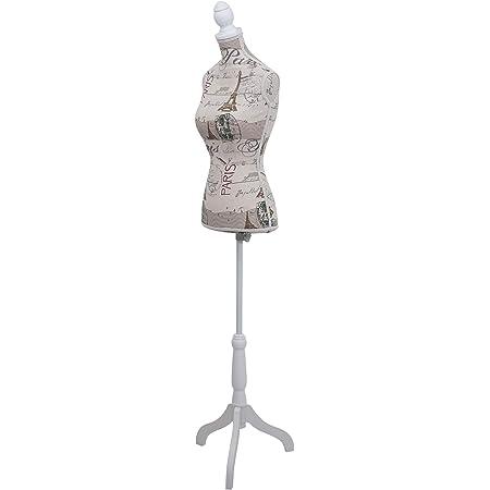 Mannequin de Couture de Tailleur Buste Torse féminin T220 - Mousse, Motif Paris
