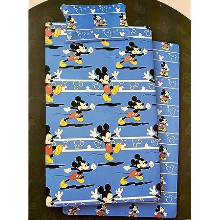 NEW IMPORT Juego DE SÁBANAS CORALINA Disney, Modelo: Mickey Mouse Color: Azul, Medida: 90cm.