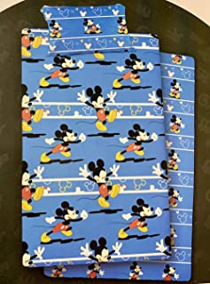 NEW IMPORT Juego DE SÁBANAS CORALINA Disney, Modelo: Mickey Mouse Color: Azul, Medida: 90cm.