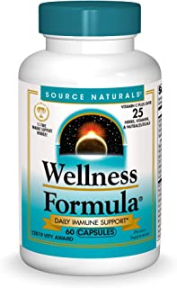 Source Naturals Wellness Formula Bio-Aligned Vitamins & Herbal Defense - Immune System Support Supplement & Immunity Boost...