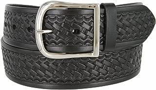 Basketweave Work Uniform Genuine Leather Belt 1.75