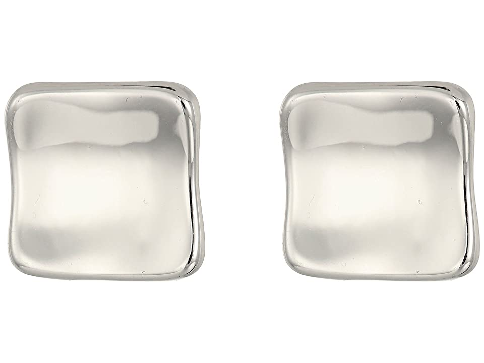 Robert Lee Morris - Robert Lee Morris Square Clip Earrings  (Metallic)