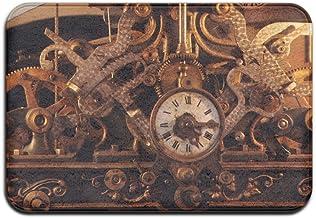 Retro Style Clock Horologium Doormats Anti-slip House Garden Gate Carpet Door Mat Floor Pads