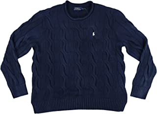 Ralph Lauren Polo Womens Rolled Crew Neck Cable Knit Sweater