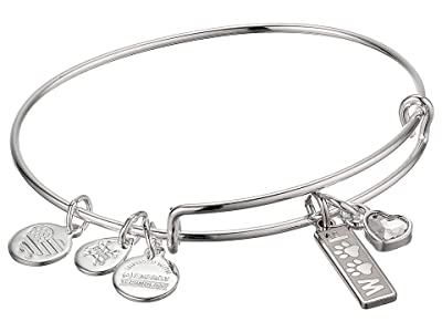 Alex and Ani Duo Charm Meow and Woof Bangle Bracelet (Silver/Woof) Bracelet