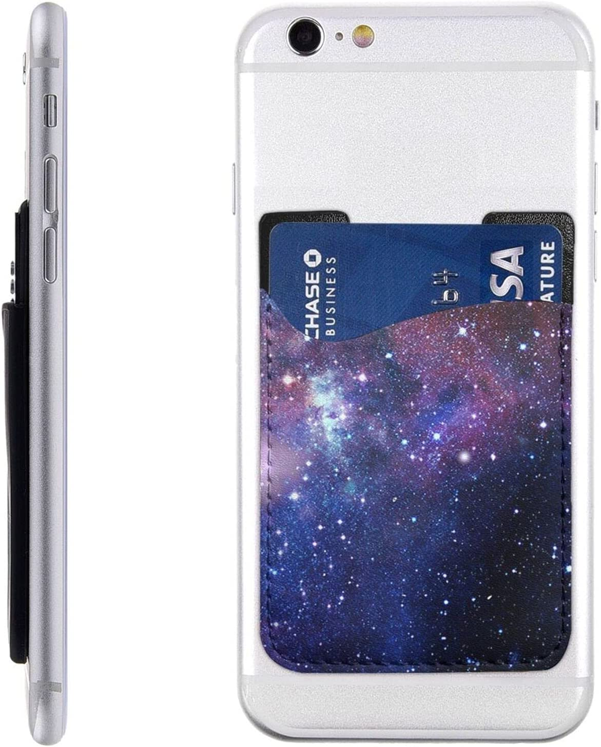 Blue Purple Galaxy Phone Card Max 59% OFF Max 90% OFF Cell On Holder Stick