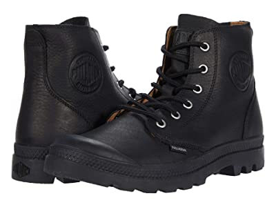 Palladium Pampa Hi Leather Ul (Black/Black) Shoes