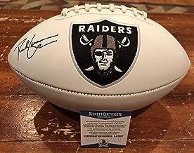 Rich Gannon Autographed Signed Oakland Raiders Logo Football Witness Beckett #1