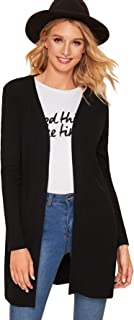 Floerns Women's Open Front Knit Cardigans Long Sleeve Outwear Knit Kimono Cardigans Sweater