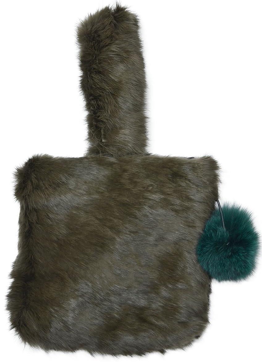 リースヒゲ影のある(カービーズ) curvy's ハンドバッグ ハンド バッグ カバン 鞄 bag ラビットファー ラビット ファー ボンボン