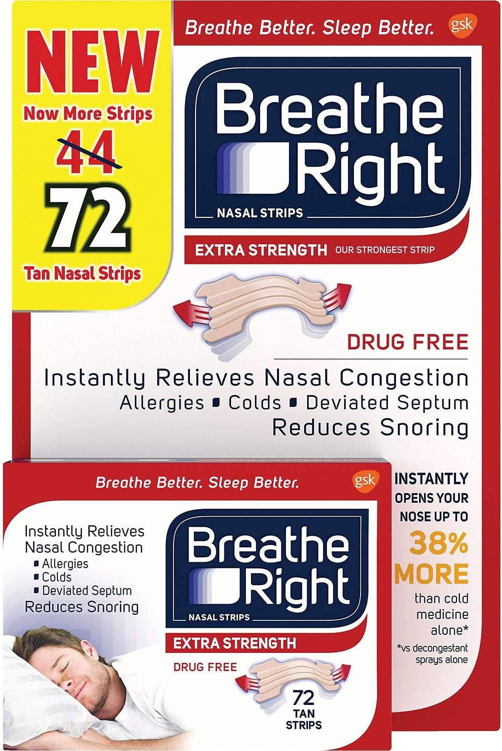 Extra Nasal Strips, 72 Count (Premium pack): Health & Personal Care