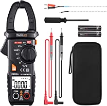 Clamp Meter, Digital Multimeter 600 Amp TRMS 6000 Counts NCV with AC Current AC/DC..