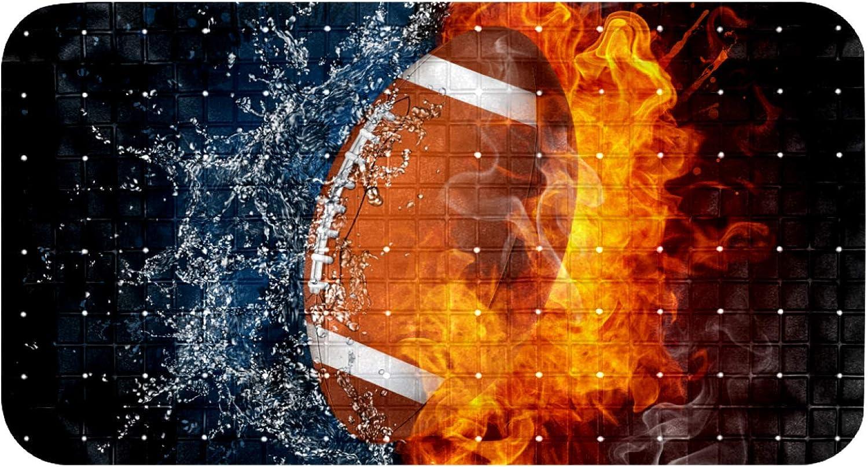 Vockgeng Bath Mats for Over item handling ☆ Tub Kids Ball American Football Fire Larg Philadelphia Mall