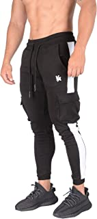 YoungLA Cargo Joggers Men Skinny Tapered Sweatpants Slim Gym Pants 210