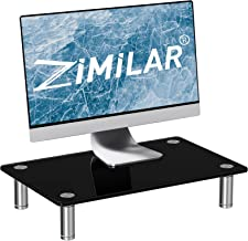Sponsored Ad - Zimilar Monitor Stand, Height Adjustable Tempered Glass Monitor Riser, Black Monitor Stand Riser for Lapto...