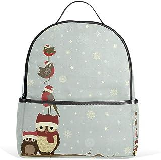 DEZIRO Rama de Navidad Con Búhos Y Aves Mochila de senderismo Mochilas Daypack Bolsa de viaje