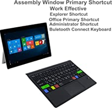 Alovexiong Arabic Ultra-Slim Portable Wireless Bluetooth Shortcuts Keyboard with Trackpad and Built-in Rechargeable Battery for Microsoft Surface Pro 6 / Pro 5 / Pro 4 / Pro 3