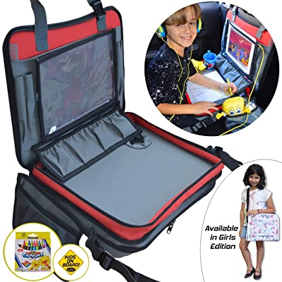 Kids Travel Tray 3 in 1 - Car Seat Travel Play ...