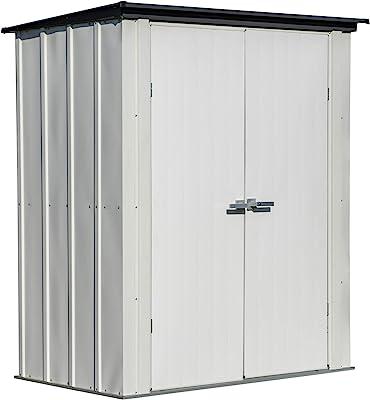 Arrow Shed Designed 5' x 3' x 6' Compact Outdoor Metal Backyard, Patio, and Garden Shed Kit, 5' x 3'