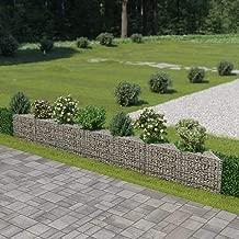 Festnight Outdoor Garden Gabion Wall Planter Stone Basket Raised Bed Galvanized Steel 177.2