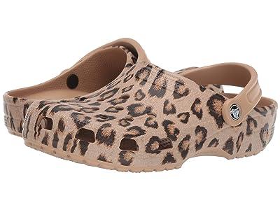 Crocs Classic Printed Clog (Leopard/Gold) Shoes