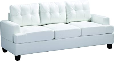Glory Furniture G587A-S Living Room Sofa, White