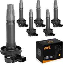 QYL Pack of 6Pcs Ignition Coils Replacement for Ford Taurus Explorer F-150 Mustang Transit 150 250 350/Lincoln Mks Mkt Mkx Mkz #UF-553 UF-595 5C1652 E1053
