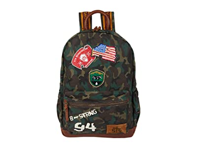 STS Ranchwear Camo Backpack (Green/Brown) Backpack Bags