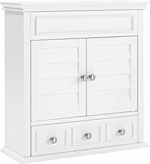 Best white bathroom wall cabinet with drawers Reviews
