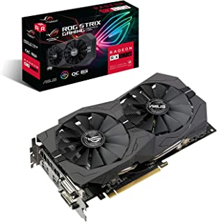 بطاقة رسومات ASUS ROG Strix Radeon RX570 O8G Gaming GDDR5 DP HDMI DVI VR Ready AMD (ROG-STRIX-RX570-O8G-GAMING)