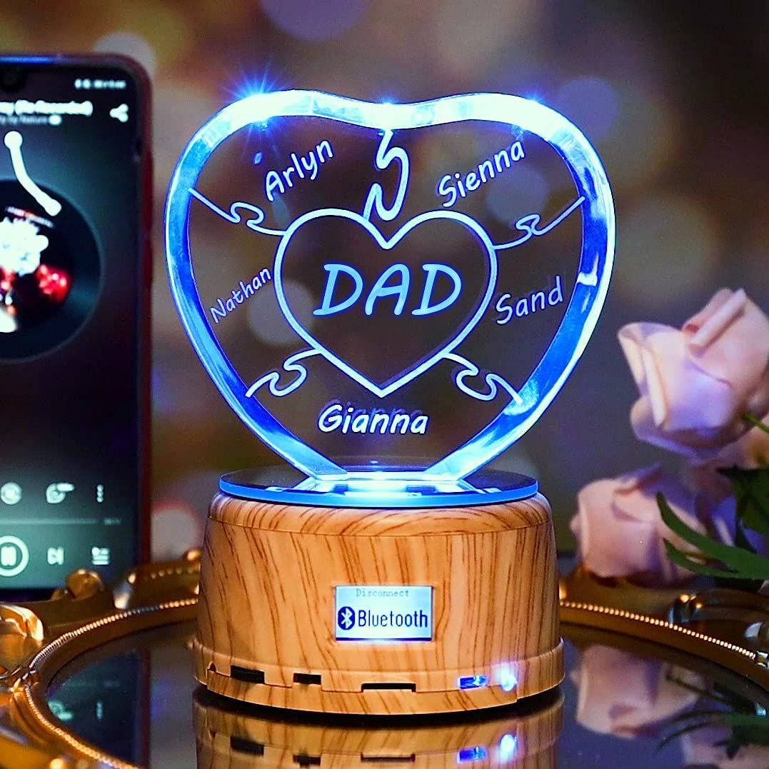 Personalized dad Lamp Gift Custom Ph Light Nippon regular agency Photo 3D LED Max 42% OFF