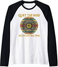 Quiet The Mind Soul Will Speak Nature Sun Meditation Yoga Raglan Baseball Tee