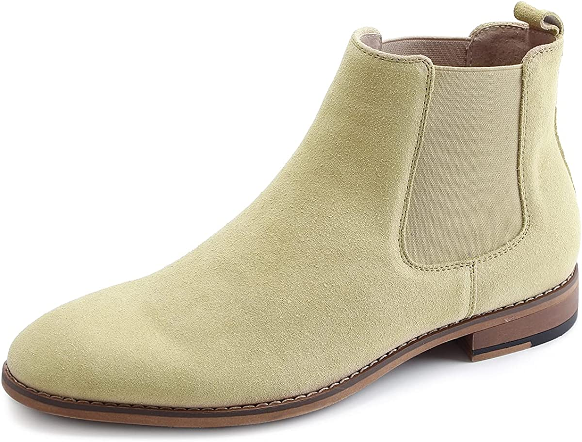 Men's Chelsea Slip-on Suede Waterp Genuine Special Cheap sale sale item Leather Boots