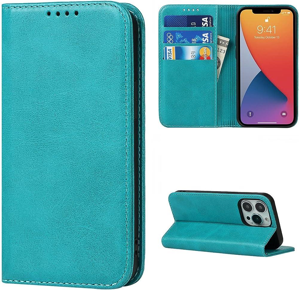 Copmob portacarte di credito portafogli custodia per iphone 13 pro Xnw i13 pro Sky Blue