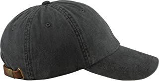 6-Panel Low-Profile Washed Pigment-Dyed Cap, Black