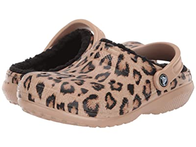 Crocs Classic Printed Lined Clog (Leopard/Black) Shoes