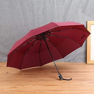Big Fully Automatic Windproof Umbrella Fashion Folding Rain Umbrella Parasol Black Coating UV Protection