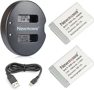 NB 13LNewmowa Batería de Repuesto (2-Pack) y Kit de Cargador Doble para Canon NB-13L PowerShot G5X G7X G7 X Mark II G9X G9 X Mark II G1 X Mark III SX620 HS SX720 HS SX730 HS